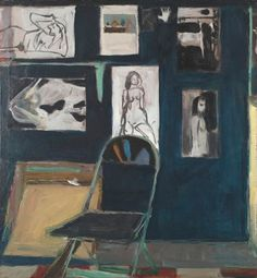Richard Diebenkorn Studio Wall, 1963 Oil on canvas 45 2/5 × 42 1/2 in
