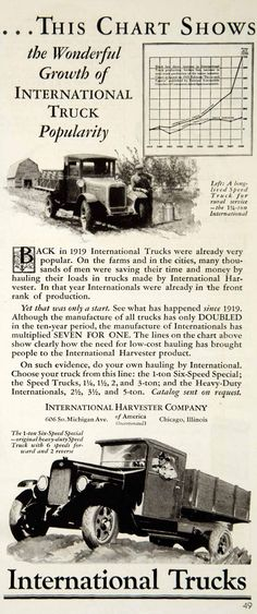 1930 Ad International Harvester 1-Ton Six-Speed Special Truck Automobile YCT1