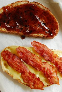 guava jelly, raclette cheese, and bacon sandwich by 80 Breakfasts, via Flickr