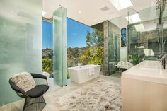 Multi-million home on the hills of Los Angeles has panoramic views by FINA Construction Group - Page 2 of 3 - CAANdesign House Design, Interior And Exterior, House, Decor Interior Design, Contemporary Master Bathroom, House Styles, Luxury Homes, Bathroom Construction, Contemporary House