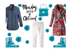 """Monday"" by juliehalloran ❤ liked on Polyvore featuring Burberry, MANGO, White House Black Market, RED Valentino, Furla, women's clothing, women, female, woman and misses"