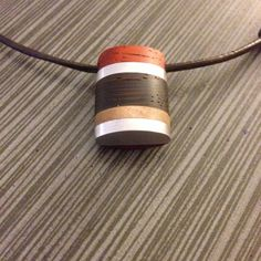 Exotic wood and metal layered pendant by AlberoDiVita on Etsy, $60.00