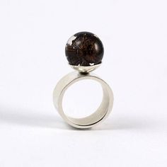 Resin Ring with Cone SIlver Ring Resin Jewellery Bridal