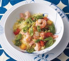 Lemony Shrimp Salad With Couscous: This quick dish is best made just before serving: If the shrimp sit too long in the lemon juice, they will lose their firmness.