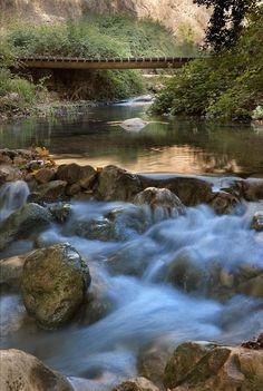 ✯ Kziv River Flowing Over Rocks - Galilee, Israel