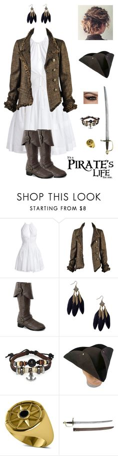 """""""Pirate's Life"""" by kateindie ❤ liked on Polyvore featuring Alaïa, Chanel, Bling Jewelry, Buy Seasons and Allurez"""