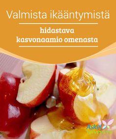 Valmista ikääntymistä hidastava kasvonaamio omenasta Tämän ikääntymistä vastaan taistelevan, omenasta valmistettavan kasvonaamion avulla saat suuren osan omenoiden tarjoamista hyödyistä ihollesi, hunajan monien ominaisuuksien lisäksi.