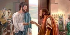 Jesus heals a man's withered hand. Why do the Sadducees and Pharisees plot to kill Jesus for doing a good deed on the Sabbath? Meaningful Pictures, Bible Pictures, Jesus In The Temple, Lucas 6, Bible Illustrations, Jewish History, Biblical Art, Sabbats, Bible Art