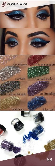 Blue Loose Glitter by City Color Sparkle & Shine Loose Glitter allows you to add a fun, glamorous and bold look of sparkle to any eye shadow look. Use after applying Sparkle & Shine Glitter Primer for long-lasting shimmer that won't quit!  Add any other color for $3 Makeup Eyeshadow