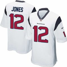 Jacoby Jones Jersey Houston Texans #12 Youth White Limited Jersey Nike NFL Jersey Sale