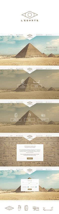 We love the color palette and nice parallax scrolling on L'Egypte's website. #webdesign #parallax #colorpalette
