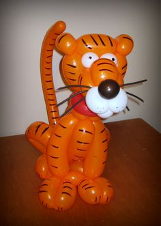 Tiger balloon sculpture.