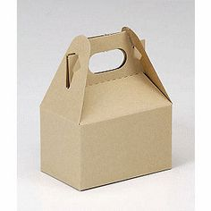 6 Pack Kraft Mini Gable Style Boxes 4 X 2.5 X 2.5 Inches Perfect for gifts, food, and party packaging. $4.00, via Etsy.