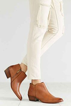 Sam Edelman Petty Leather Ankle Boot - Urban Outfitters