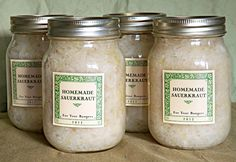 Homemade Sauerkraut | My Own Labels Canning Tips, Home Canning, Canning Recipes, Canning Vegetables, Veggies, Do It Yourself Food, Homemade Sauerkraut, Canned Food Storage, Dehydrated Food