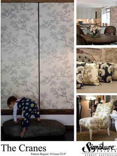 Wallpaper and fabric by Florence Broadhurst