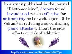 Medical journal published findings on lavender as effective as pharmaceutical drugs for anxiety and depression!