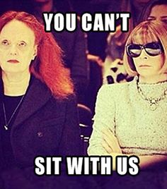 """Anna + Grace: """"You can't sit with us!"""" // #Fashion"""