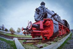 Old Steam Locomotive Close Up