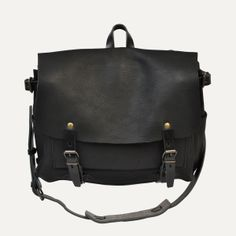 Bleu de Chauffe | Women | Leather messenger bag | Postman Bag Eclair | Sac cuir Made in France