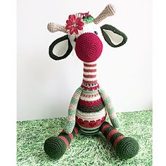Crochet giraffe. (Inspiration).
