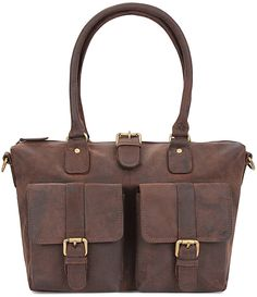 LEABAGS San Diego genuine buffalo leather shopper bag in vintage style * Remarkable product available now. : Shoulder Handbags