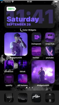 iOS14 Homescreen purple aesthetic
