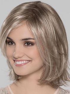 Come and buy Short Blonde Discount Wavy Chin Length Synthetic Bob Wigs. Synthetic Lace Front Wigs, Synthetic Hair, Modern Hairstyles, Wig Hairstyles, Natural Hair Growth, Natural Hair Styles, Long Layers With Bangs, Hair Knot, Human Hair Wigs