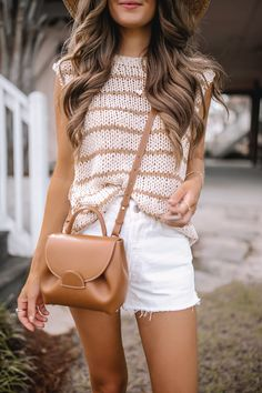 Lazy Day Outfits, New Outfits, Trendy Outfits, Summer Outfits, Fashion Outfits, Summer Vacation Style, Southern Curls And Pearls, Professional Wear, Neutral Outfit