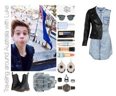 Traveling around Australia with Luke by michaelssmile on Polyvore featuring polyvore mode style ONLY VIPARO Dr. Martens Olivia Burton Charlotte Russe Casetify Ray-Ban Max Factor MAC Cosmetics tarte Maybelline Estée Lauder Essie fashion clothing