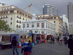 TOP WORLD TRAVEL DESTINATIONS: Greenmarket Square, Cape Town South Africa