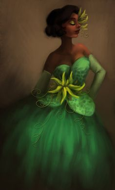 Princess Tiana from the Disney movie The Princess and the Frog   Designer Tiana by winderly.deviantart.com