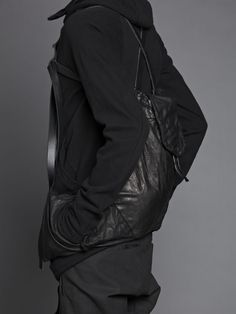 Boris Bidjan Saberi leather backpack with pockets