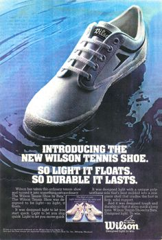 Vintage Wilson Tennis Shoe by Bata advertising - May 1978 #batashoes #bata120yearsadvertising