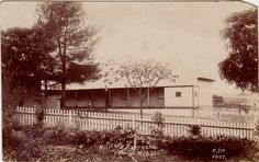 Military Barracks located near the corner of Bridge and Court Streets,Windsor,in northwestern Sydney (year unknown). Local History, Family History, Family Research, Historical Pictures, Windsor, Prompts, Sydney, Buildings, Bridge