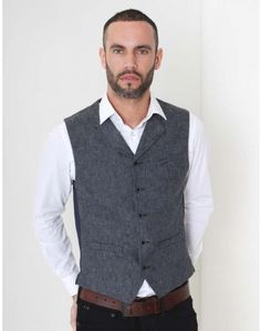 Gibson Londons vintage denim waistcoat denim has a notch lapel with five button fastening to the front and a single vented back. Race Day Outfits, Denim Waistcoat, Vintage London, Occasion Wear, Vintage Denim, Blue Denim, Floral Prints, Vest, Suits