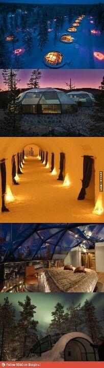 Glazen iglo's Finland