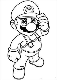 Mario Bross Tegninger til Farvelægning. Printbare Farvelægning for børn. Tegninger til udskriv og farve nº 27