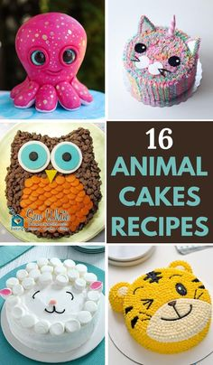 16 Beautiful Animal Cake Ideas for your Kid's Birthday Party. These cakes are easy to make and are popular among kids. #animalcakes #birthdaycakes #easyanimalcake #owlcake #animalcakesforkids #animalcakesparty #animalcakesfarm Butterfly Cakes, Butterfly Birthday, Flower Cakes, Animal Cakes For Kids, Dolphin Cakes, Cake Designs For Kids, Beautiful Cake Designs, Gorgeous Cakes, Animal Birthday Cakes
