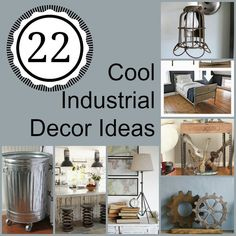 There so many cool trends in industrial design--turning pipes, gears, and springs into decor. Here are some cool industrial decor ideas you can try!
