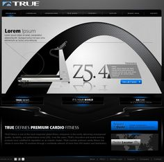 Website design concept submitted to True Fitness