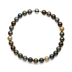 Sterling Silver Individually Knotted Multi-colored Shell Pearl Necklace