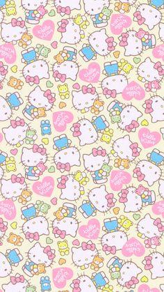 Wallpaper Whatsapp Backgrounds Iphone Hello Kitty 19 New Ideas Sanrio Wallpaper, Cartoon Wallpaper, Cat Wallpaper, Kawaii Wallpaper, Pattern Wallpaper, Pink Chevron Wallpaper, Hippie Wallpaper, My Melody Wallpaper, Retro Wallpaper