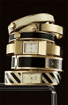 @Kate Mazur Mazur spade new york bangle watches. #putabowonit