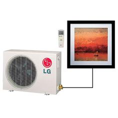 LG Ar Cool Ductless Air Conditioner. Remote control heat/air from a picture on the wall.    I want one....and you can change the picture!