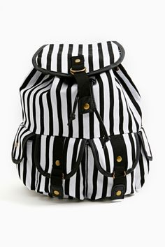 Borderline Backpack from NASTY GAL. Saved to shoes and accessories. Shop more products from NASTY GAL on Wanelo. Backpack Purse, Striped Backpack, Rucksack Bag, Clutch Bag, Backpack For Teens, Cute Backpacks, Cute Bags, School Bags, School Stuff