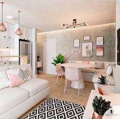 Neon Decoration: environments to inspire the decoration of the house - Home Fashion Trend Home Living Room, Apartment Living, Interior Design Living Room, Living Room Designs, Living Room Decor, Small Condo Living, Cozy House, Home Decor Inspiration, Decor Ideas