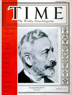 TIME Cover - Vol. 7 Nº 26: Wilhelm II | June 28, 1926                    http://en.wikipedia.org/wiki/Wilhelm_II,_German_Emperor