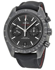 "Omega Speedmaster Co-Axial Chronograph ""Dark Side of the Moon"" Black Dial Black Fabric Mens Watch 31192445101003 Omega Watch Omega Speedmaster Moonwatch, Omega Seamaster, Casual Watches, Watches For Men, Wrist Watches, Men's Watches, Sport Watches, Omega Shop"