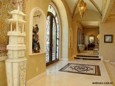 Hall of entry, Mansion Austin, Texas (USA) webluxo.com.br
